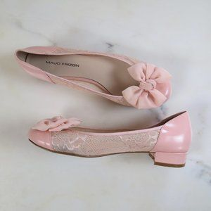 Maud Frizon pink ballet bow flats, size 39